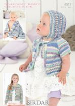 Sirdar Snuggly Baby Crofter DK - 4517 Cardigans, Bonnet and Blanket Knitting Pattern